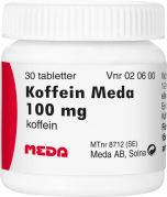 Koffein Meda tabletter 100mg, 30st