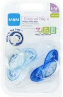 MAM Napp Original Night 6-16 m Silikon 2 st