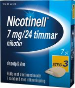 Nicotinell Plåster 7 mg 7 st