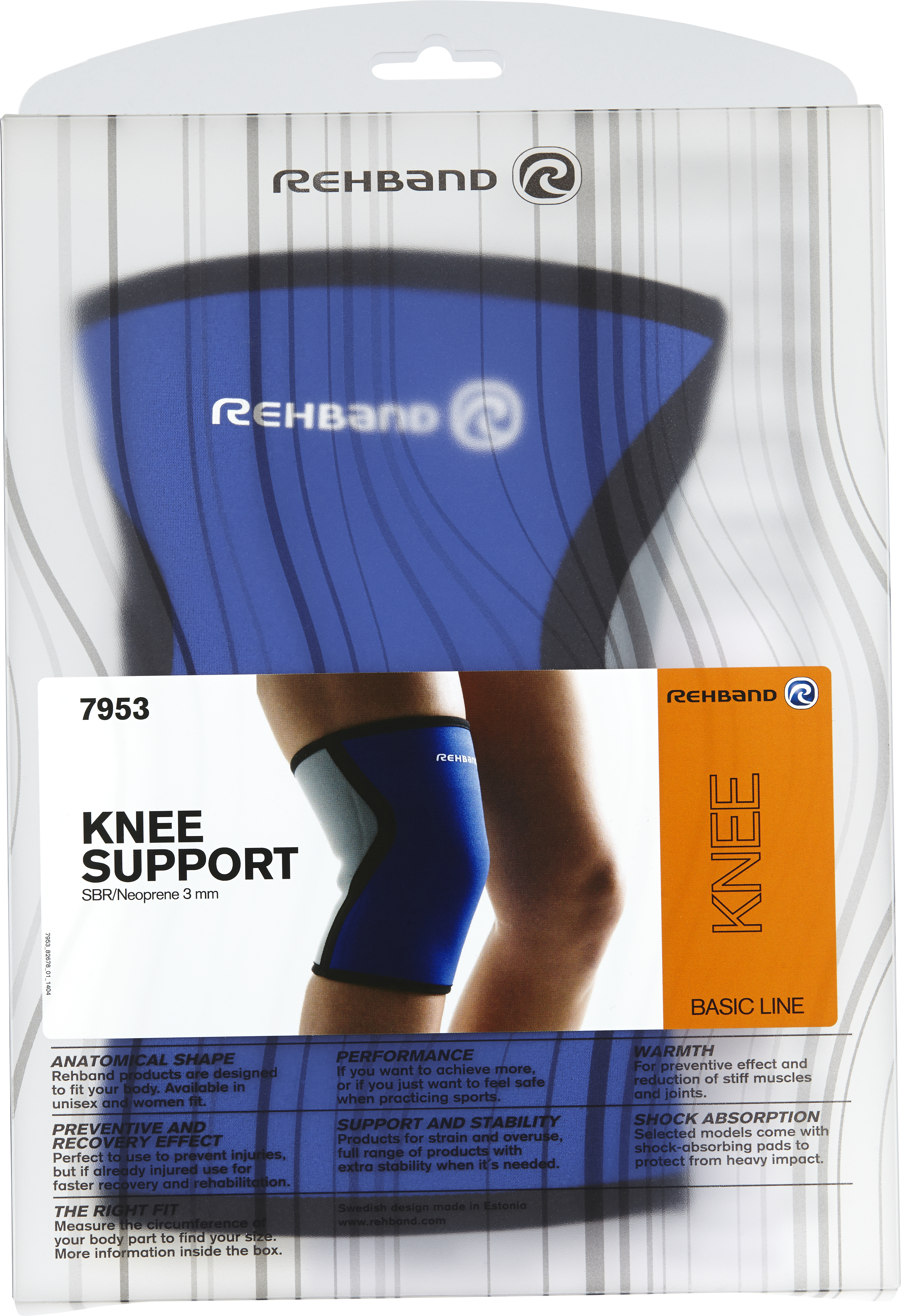 Rehband PRN Original Knee Pad, Blue, L
